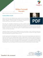 Biographie Mélissa Verreault