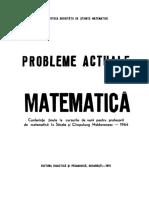 PROBLEME ACTUALE DE MATEM (1968)