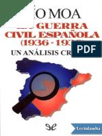 La Guerra Civil espanola 19361939 - Pio Moa