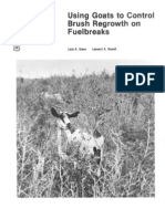 Using goats to control brush regrowth on fuelbreaks