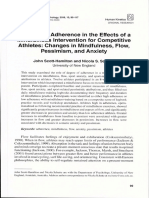 17. The role of adherence in the effects of a mindfulness intervention for competitive athletes