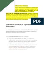 POLITICAS DE SEGURIDAD EN LA EMPRESA