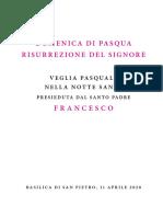 Libreto Vigilia Pascual PAPA Francisco 2020 -Italiano-