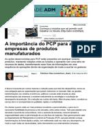A importância do PCP para as empresas d...tigos - Negócios - Administradores