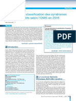 Révision de La Classification Des Syndromes MP 2016