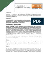 PD-SSMA-16-13 Procedimiento trabajo en espacios confinados - jul 16