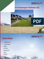 Krono Swiss Group Presentation