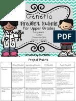 GenericProjectRubricforUpperGrades