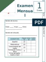 Febrero - 1er Grado - Examen Mensual (2019-2020)