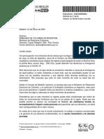 Carta a la Embajada de Colombia en Argentina por la situación de los hinchas del DIM en este país