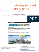 Finding Stories in Blindspots & Gaps