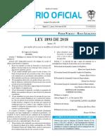 Ley 1893 de 2018 (Modifica el Código Civil referente a la indignidad sucesoral)