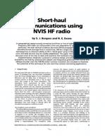 Short-haul communications using NVlS HF
