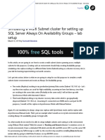 Simulating a Multi Subnet cluster for setting up SQL Server Always On Availability Groups - lab setup