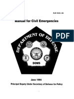 DoD 3025 Manual For Civil Emergencies 1994