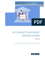 investment banking course glossary