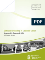 Brochure on Demand Forecasting in Electricity Sector