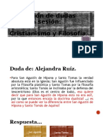 ACLARACIÓN DE DUDAS SOBRE CRISTIANISMO Y FILOSOFÍA