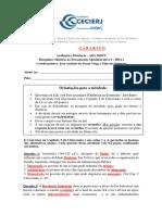 Atividade II da AD1 - 2020 - 1º - Gabarito