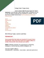 Common IELTS Writing Task 2 Topics