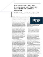 High Cotton; Why We Should Not Subsidize Farmers