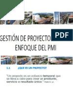 GESTION DE PROYECTOS EN EL ENFOQUE PMI