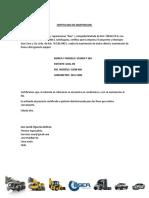 certificado de mantencion