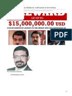 2020_MAR. Procura-se. Nicolás Maduro - Traficante e Terrorista