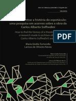TORTORELLA, MariaE e NEVES, LarissaO - Como encontrar a história do espetáculo_ uma pesquisa em acervos sobre a obra de Carlos Alberto Soffredini