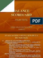 balanced scorecard de una empresa textil