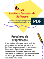 Analise e Desenho de Software