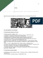 Schifres, S. 2015. Bibliografía Sobre El Movimiento Autónomo Francés