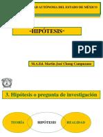 3. HIPÓTESIS  JULIO DE 2012