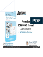 formation - admin securite - SOPHOS XG Firewall administration