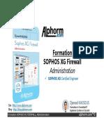 formation - admin securite - SOPHOS XG Firewall administration