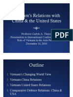 Thayer Power Point Slides for Vietnam Relations with China and the US Paper
