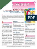 FOLHETO A MISSA - 20200322 - 4Aº DOMINGO DA QUARESMA - Domingo, 22-03-2020