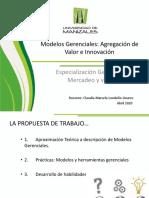 Presentación Modelos Gerenciales Especialización en Mercadeo 2020