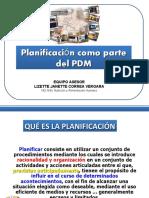 Planificación como parte de la formulación del PDM (1)