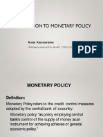 FIN301 - Week 05 - Monetary Policy