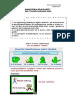 Guía 4tos básicos ( presente continuo)
