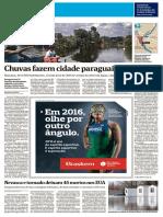 Chuvas fazem cidade paraguaia submergir