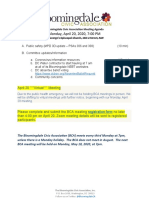 Bloomingdale Civic Association meeting agenda 2020 04 20