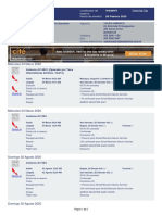 Itinerary for  GERALD BISMARCK ABURTO SANCHEZ 04MAR2020 MGA-SAL W4Q6WT