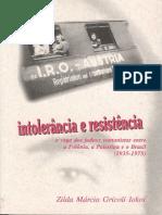 Intolerância e resistência - Judeus - Zilda G. Iokoi