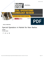 Special Operators in Market for New Radios
