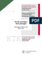 Ingunn Moser-john Law--Good Passages Bad Passages