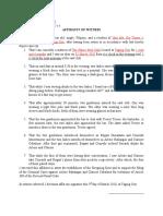 Affidavit of Eyewitness-Waitress