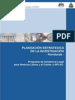 MANUAL_HONDURAS Plan Estrategico de Investigación PEI