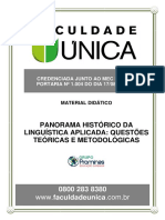 Módulo 03 - PANORAMA HISTÓRICO DA LINGUÍSTICA APLICADA QUESTÕES TEÓRICAS E METODOLÓGICAS